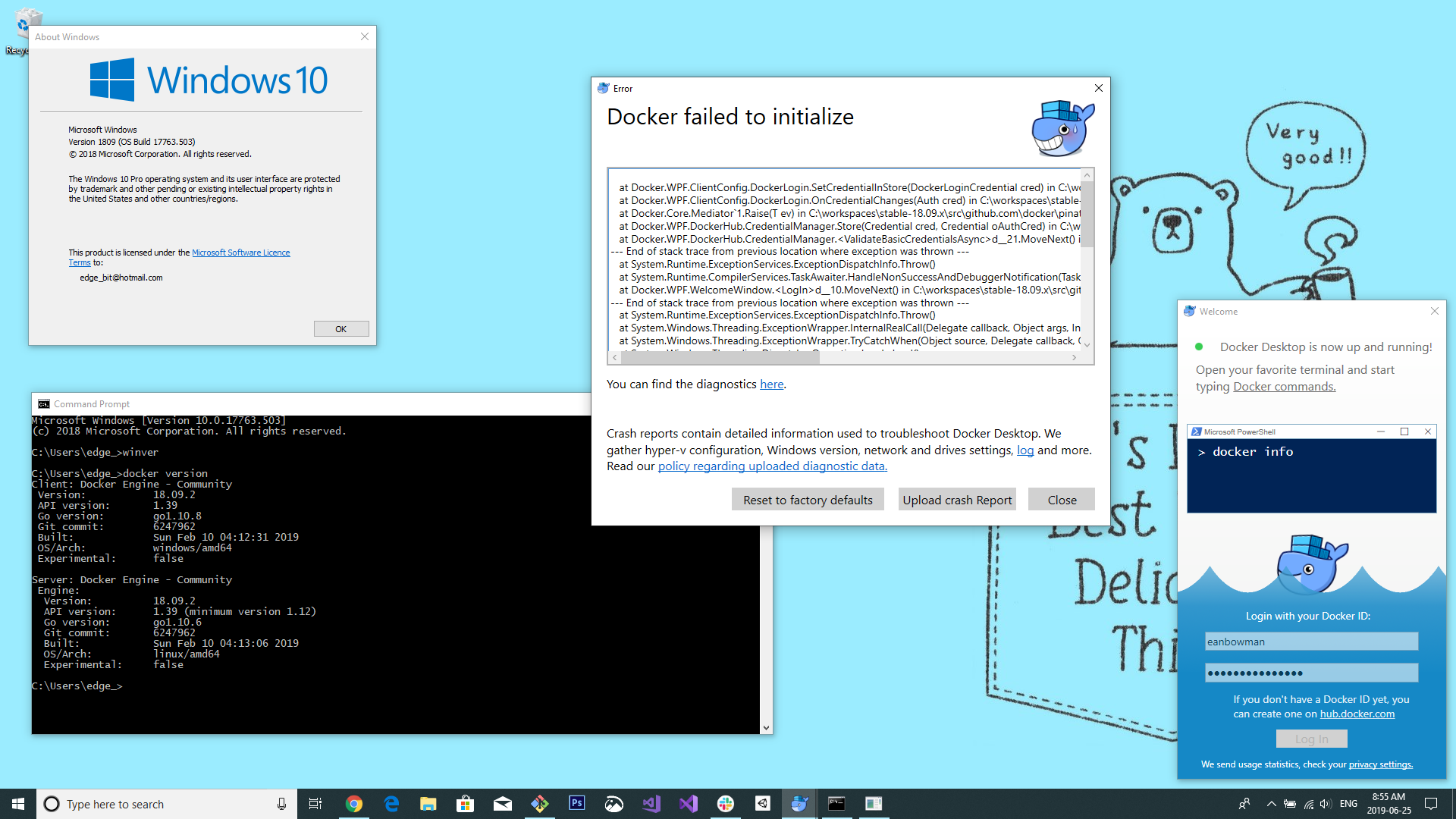 Docker Crash on Fresh Install Win1809 · Issue #4135 · docker