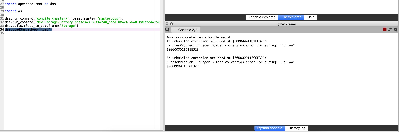 adding LoadShape crashes Python · Issue #40 · dss-extensions