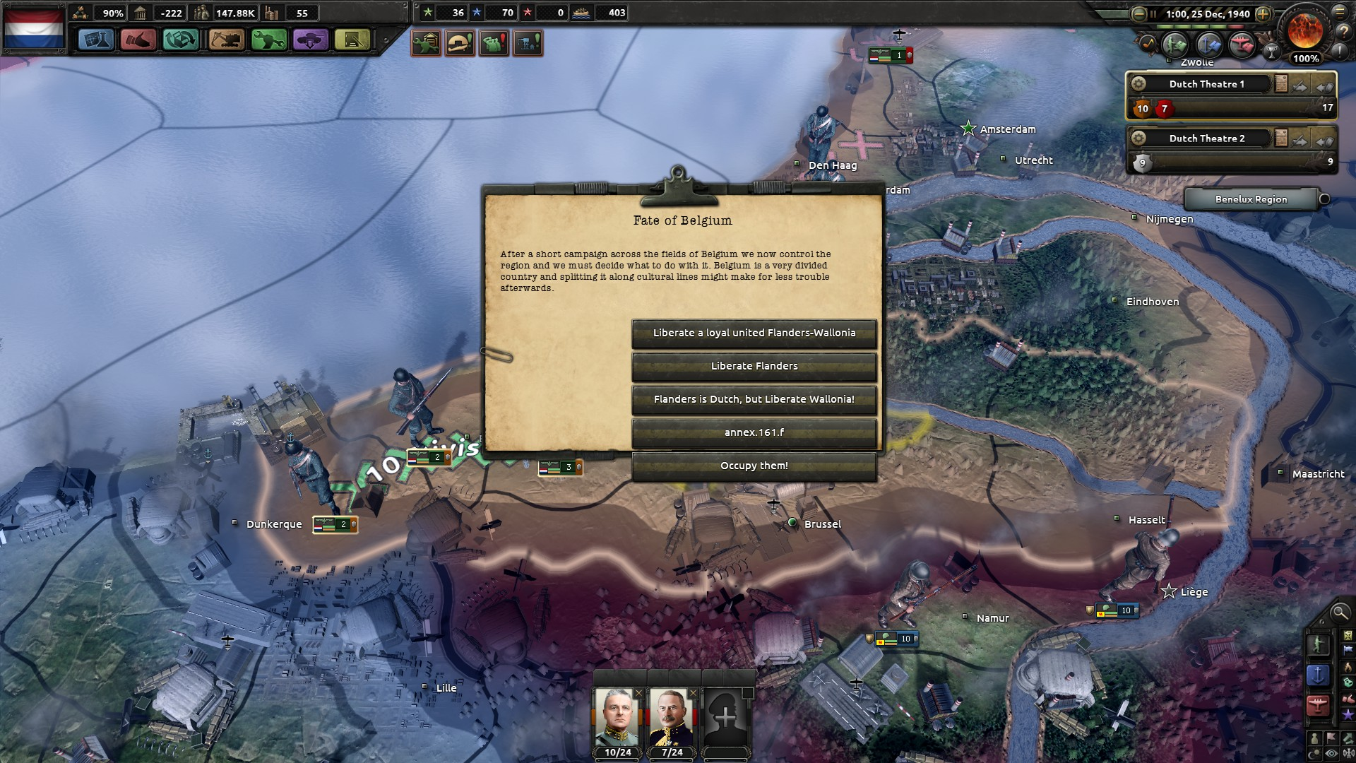 peaceful annexation of Flanders bug · Issue #564 · KR4