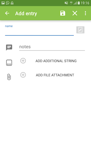 Add support for templates when adding/viewing entries