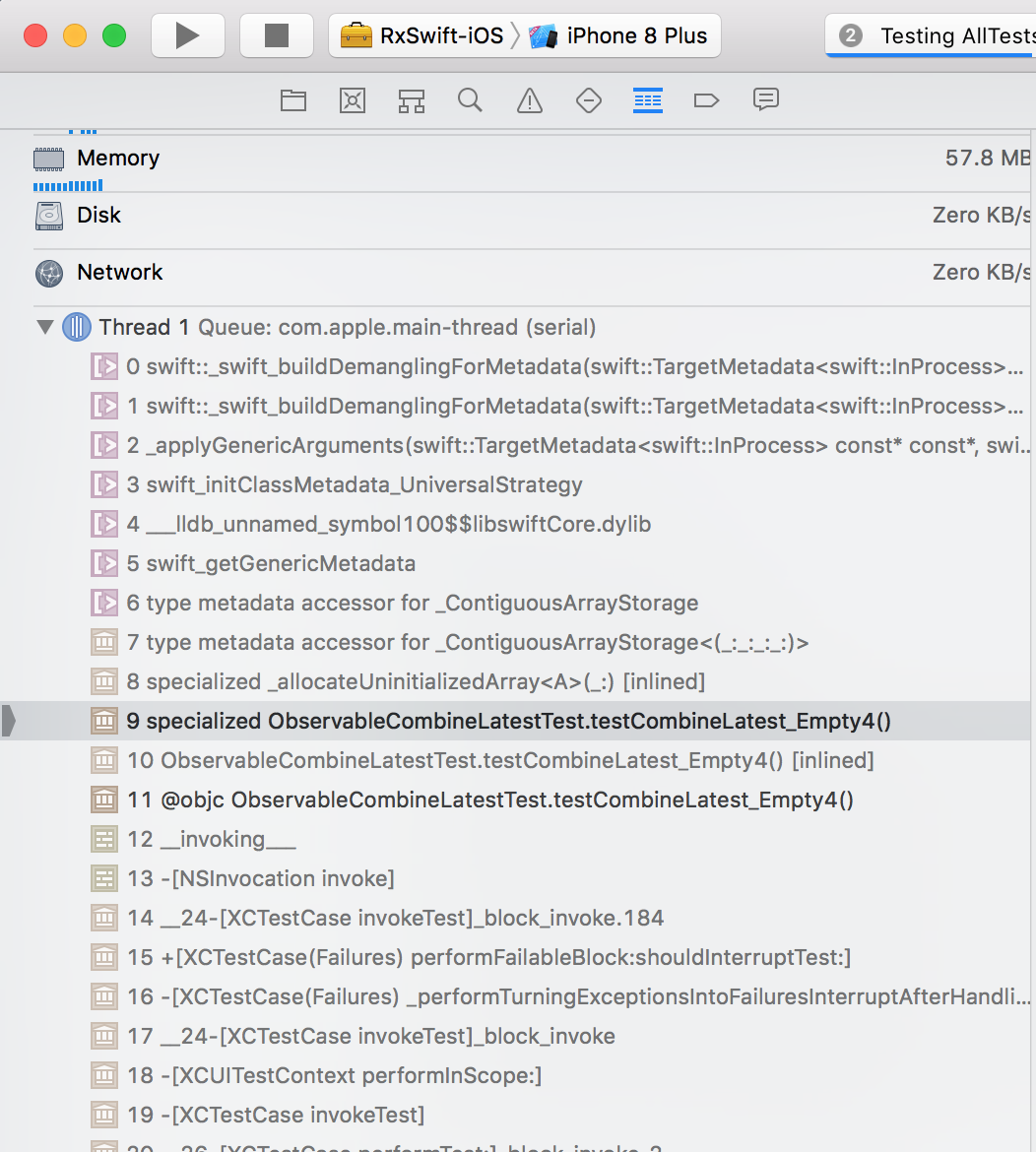 Runtime errors with Xcode 9 3 / Swift 4 1 · Issue #1555 · ReactiveX