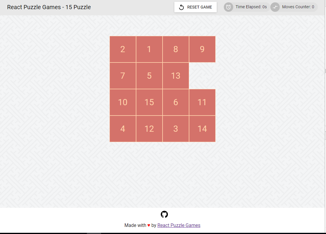 Add footer · Issue #15 · react-puzzle-games/15-puzzle · GitHub