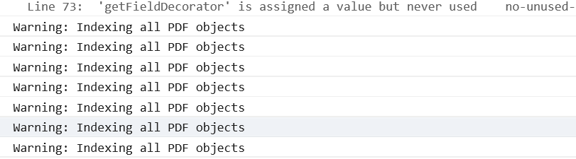 ie11 Warning: Indexing all PDF objects · Issue #422 · wojtekmaj