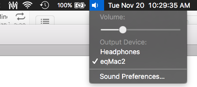 Can't hear difference on eqMac2 when I moved up the sliders
