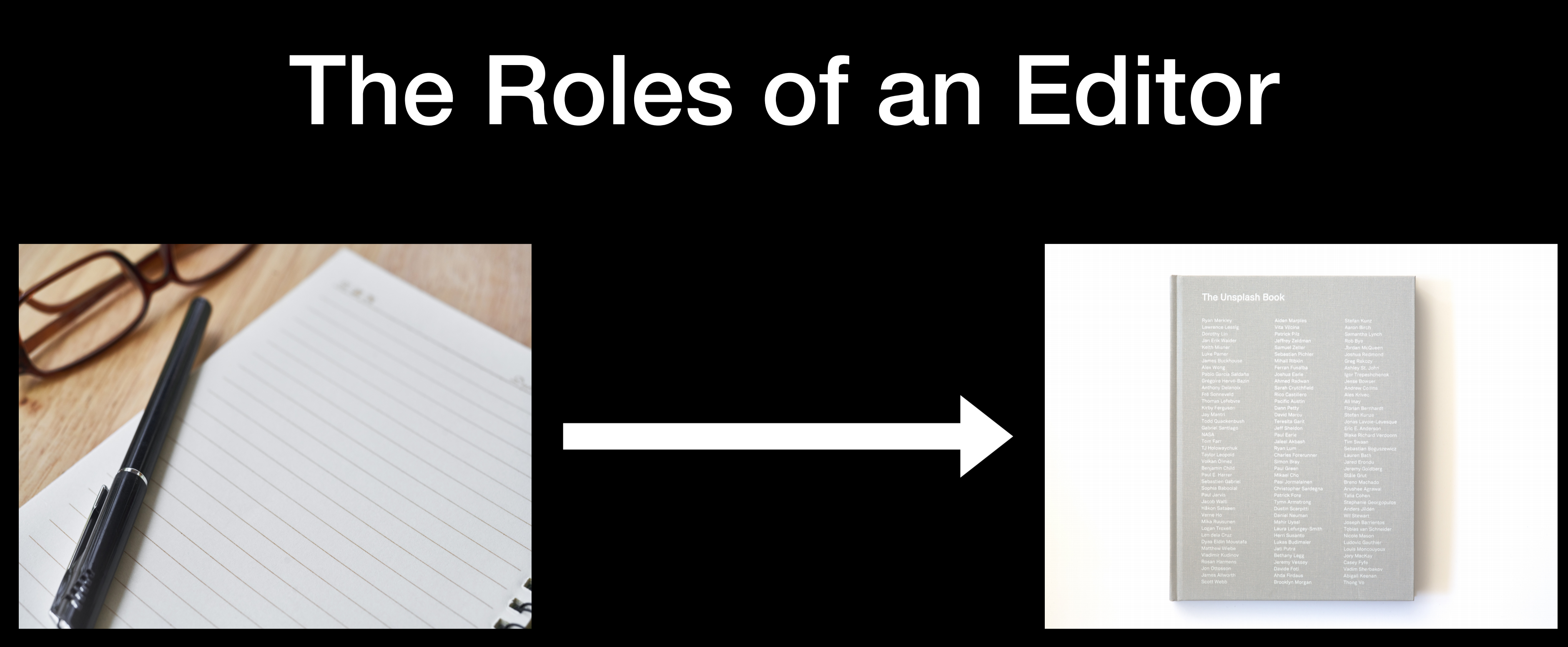 The roles of an editor