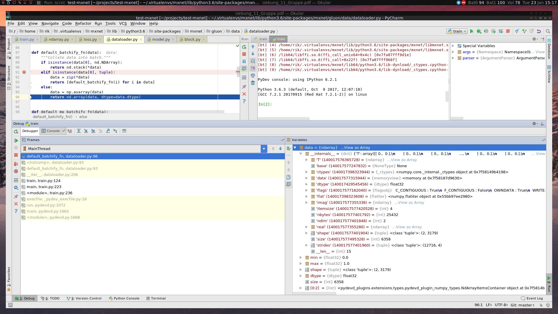 KeyError: <class 'numpy object_'> in mx nd array empty