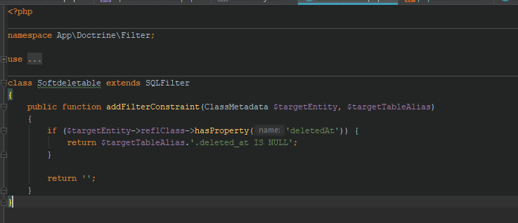 In test mode Symfony can't find doctrine filters · Issue