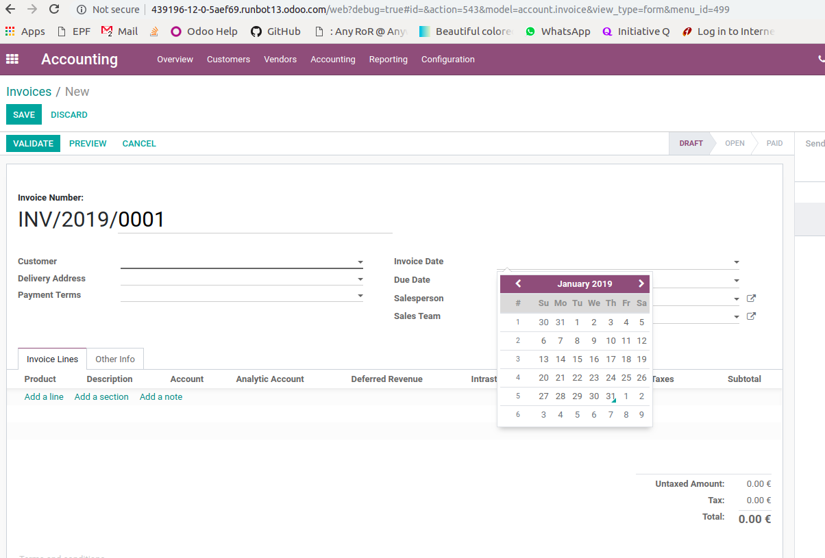 Changing First Day of Week is not working in odoo 12 · Issue #30709