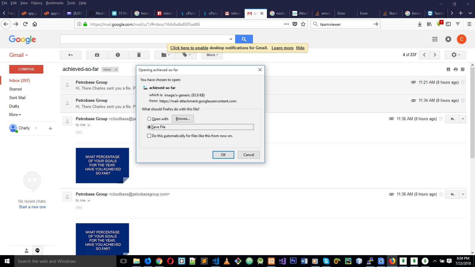Nodemailer attachment is corrupting attached file · Issue