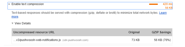 Enable GZIP compression on pushwoosh js file · Issue #20