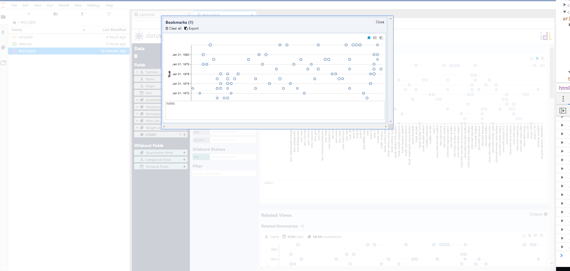 Address Enabling Export Voyager as Vega Lite File Command