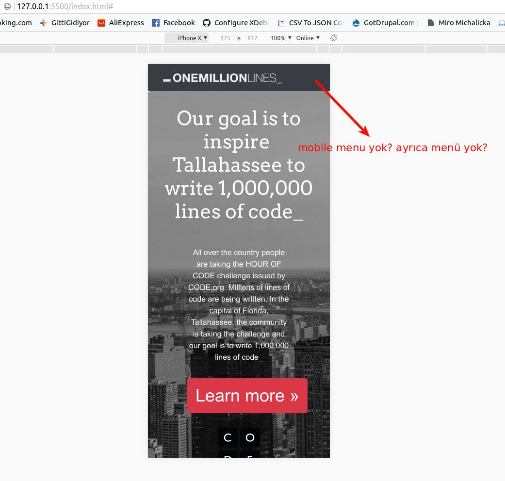 index html dosyasında menü ve mobile menü yok · Issue #4 · kcagdass