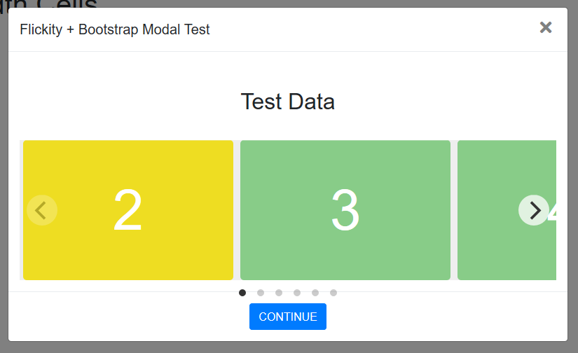 Flickity + Bootstrap Modal + fixed-width cells = Sadness