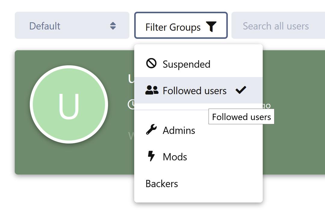 fof/user-directory integration