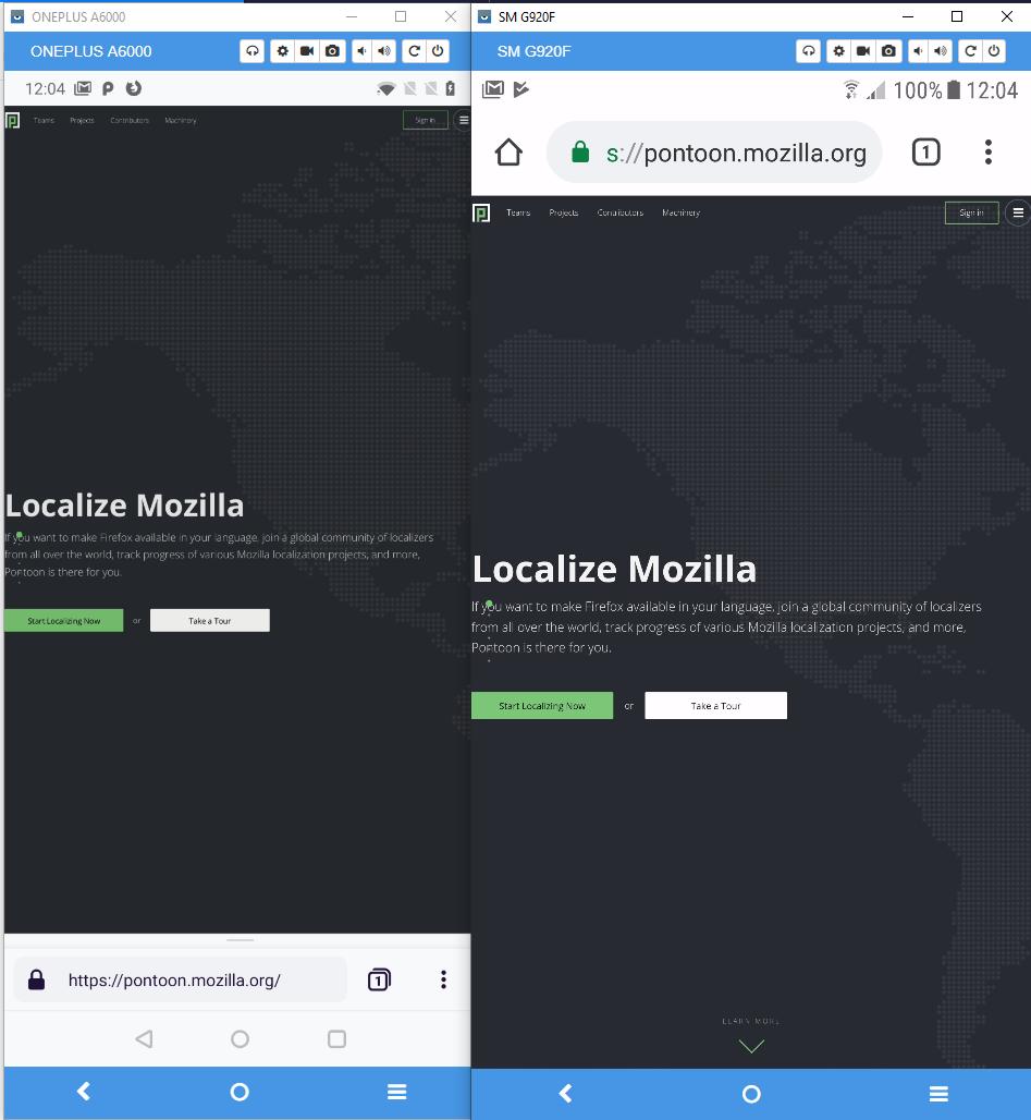 pontoon mozilla org - desktop site instead of mobile site · Issue