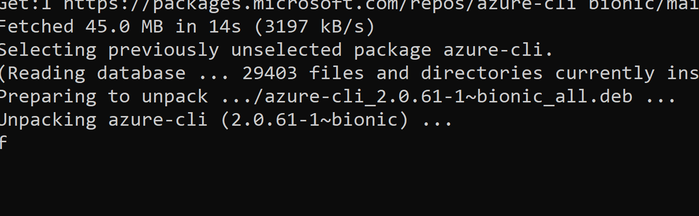 Azure CLI failed to installed in WSL Console (Ubuntu