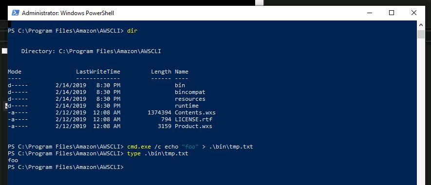 Windows AWSCLI64PY3 MSI not shipping aws exe anymore breaks scripts