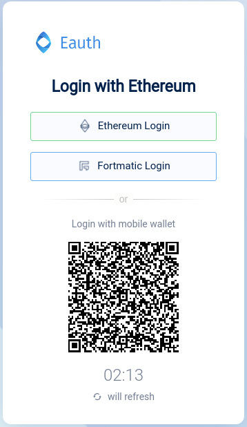 Login with Ethereum