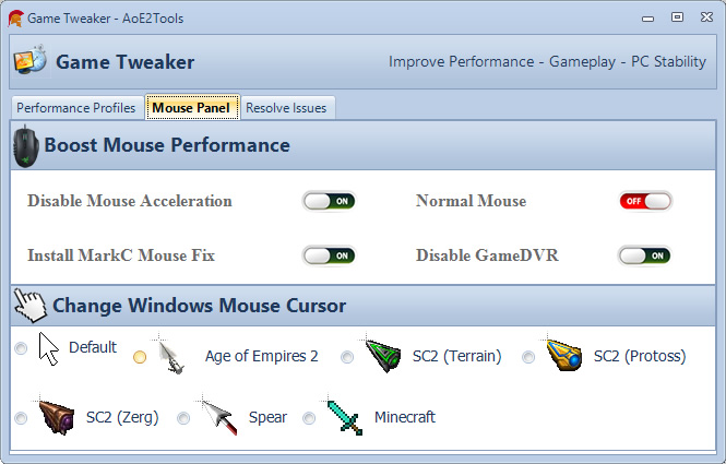 mouse panel
