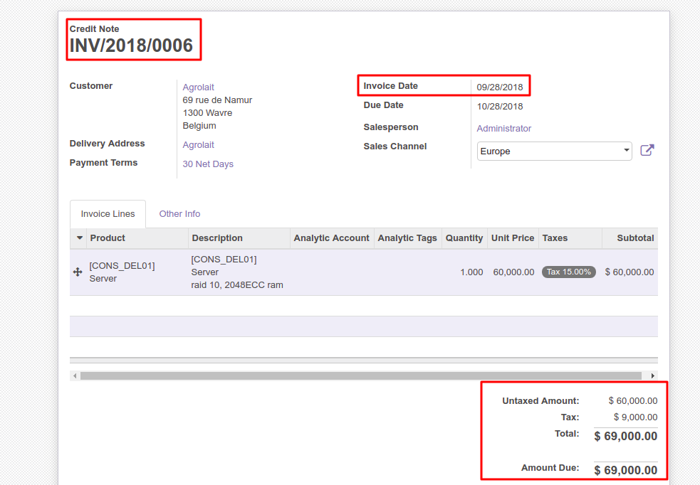 11] Incorrect Net/Tax amount in Tax report · Issue #26857