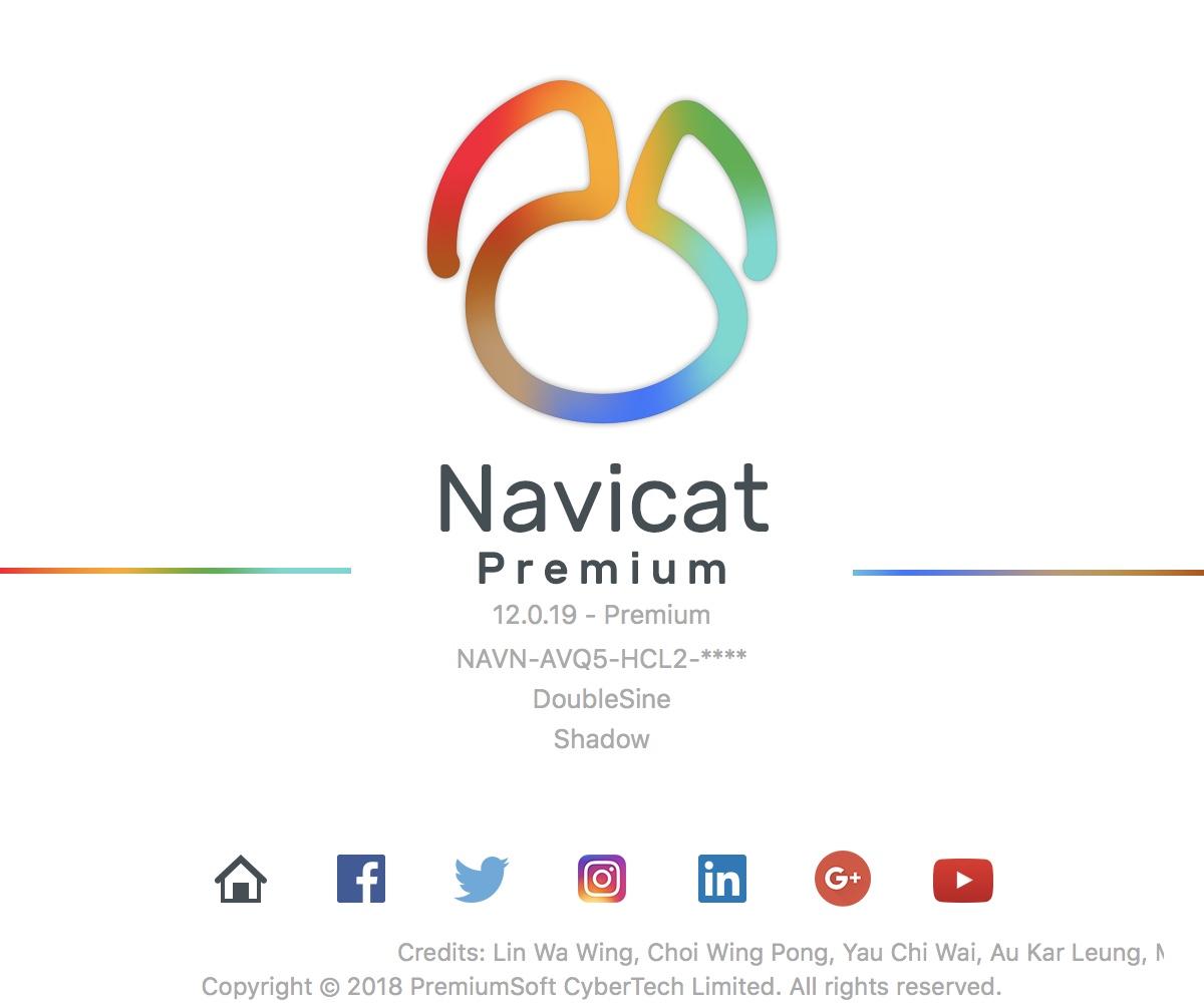 navicat premium registration key for mac