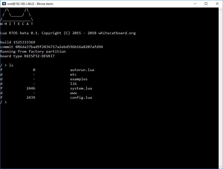 SSH Connection Fails · Issue #159 · whitecatboard/Lua-RTOS