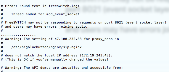 FreeSWITCH may not be responding to requests on port 8021