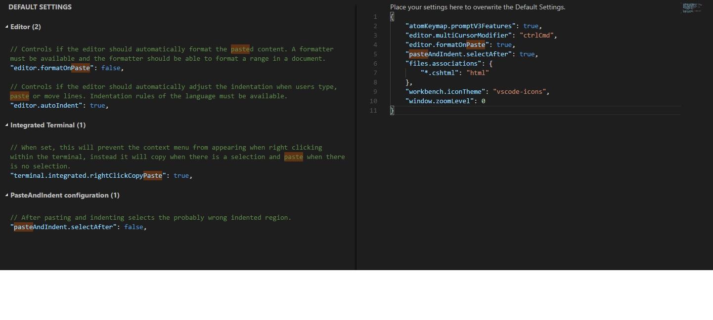 vscode custom settings