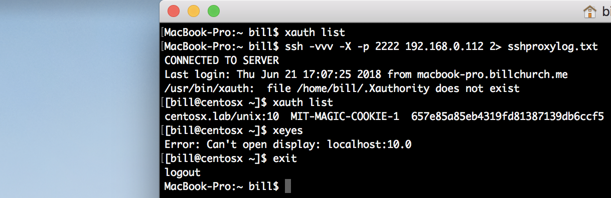 X11 forwarding questions for proof of concept SSH proxy