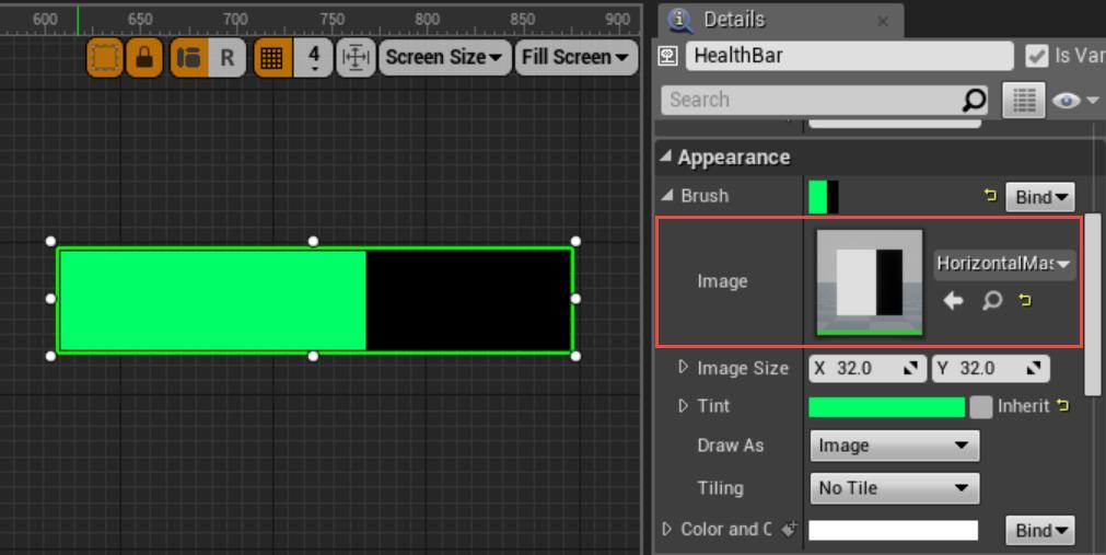 blueprints - How can I make custom progress bar in unreal