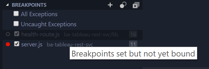 Breakpoint set but not yet bound · Issue #625 · microsoft