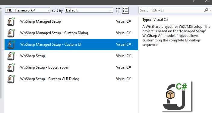 Built-in installer placeholders are displayed as format strings with