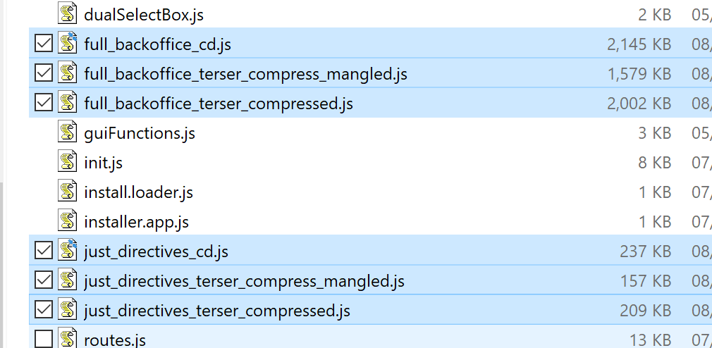 V8: Revisit javascript compression for core code · Issue