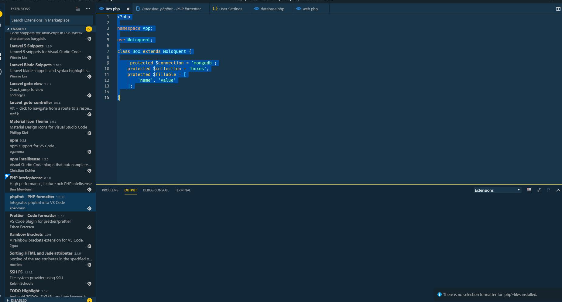 Formatting · Issue #65974 · microsoft/vscode · GitHub