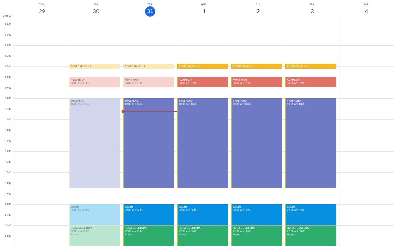 Minha Agenda no Google Calendar