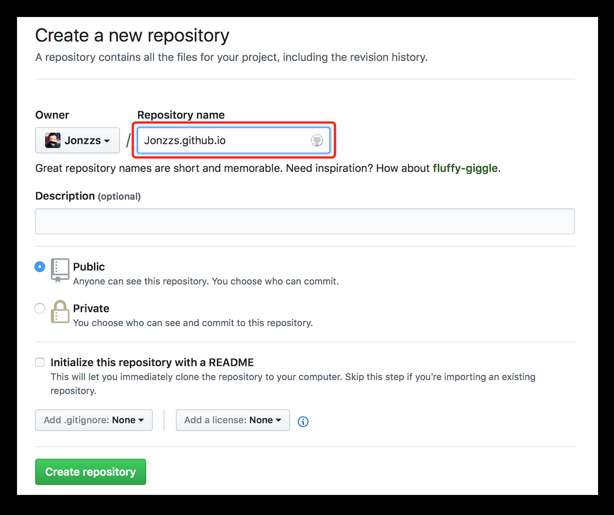 创建 GitHub 仓库