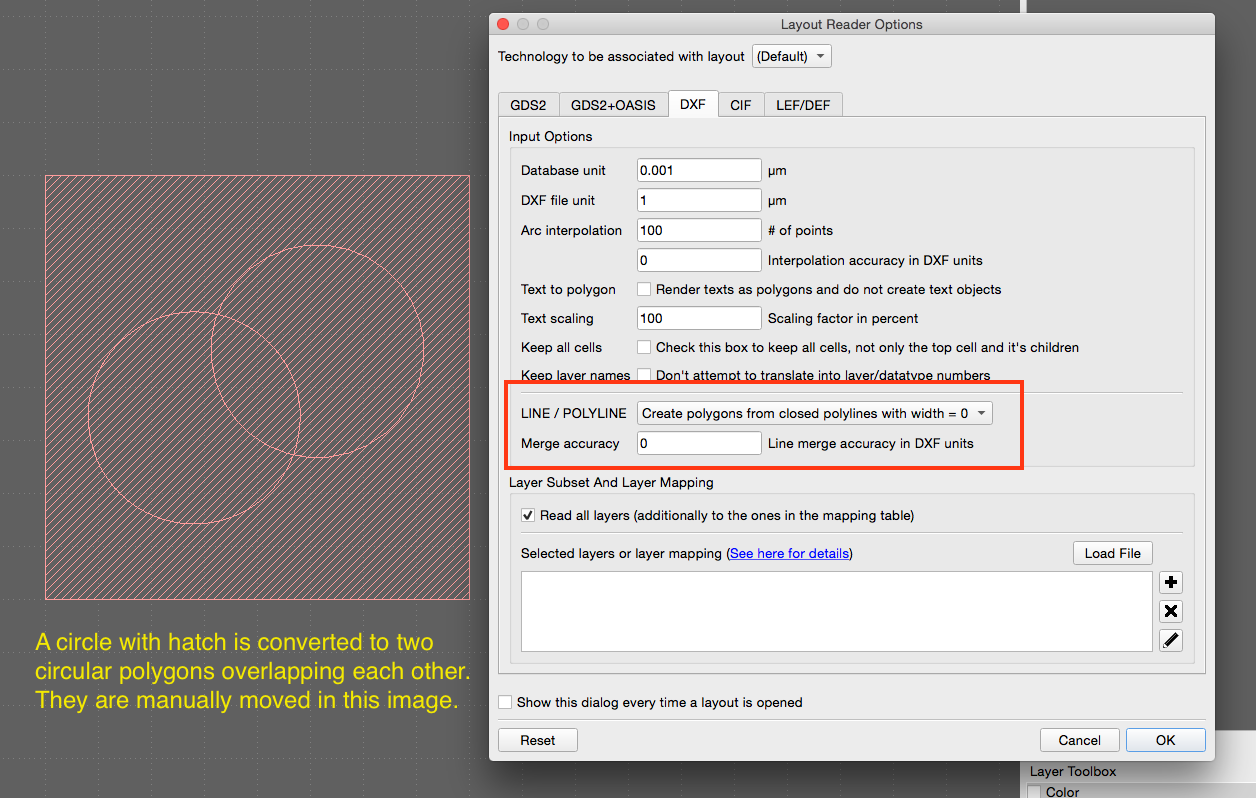 Klayout not recognizing closed polygons from DXF · Issue #243