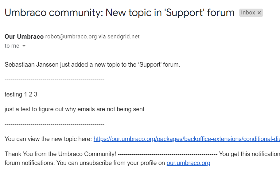 Not receiving notifications from forums. · Issue #472