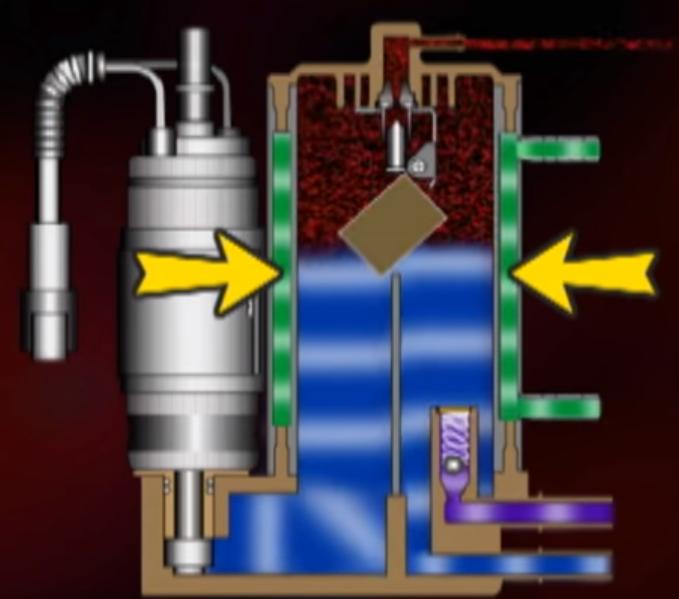 water cooling the vapor separator