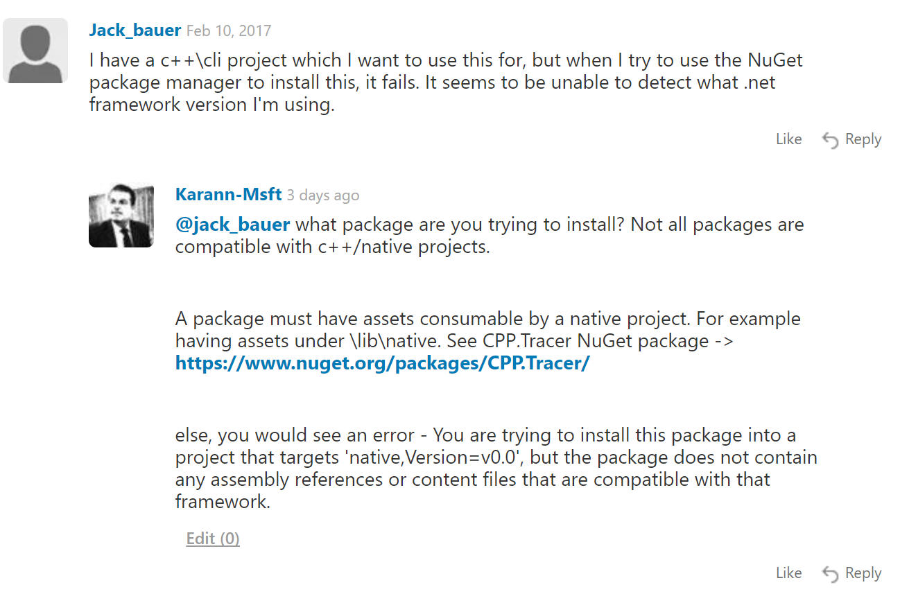 Customer question in package manager UI reference (C++/CLI) · Issue