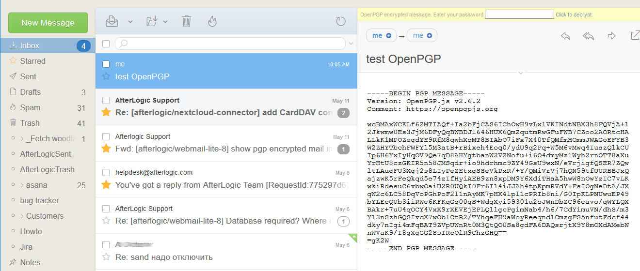 show pgp encrypted mail inline · Issue #45 · afterlogic/webmail-lite