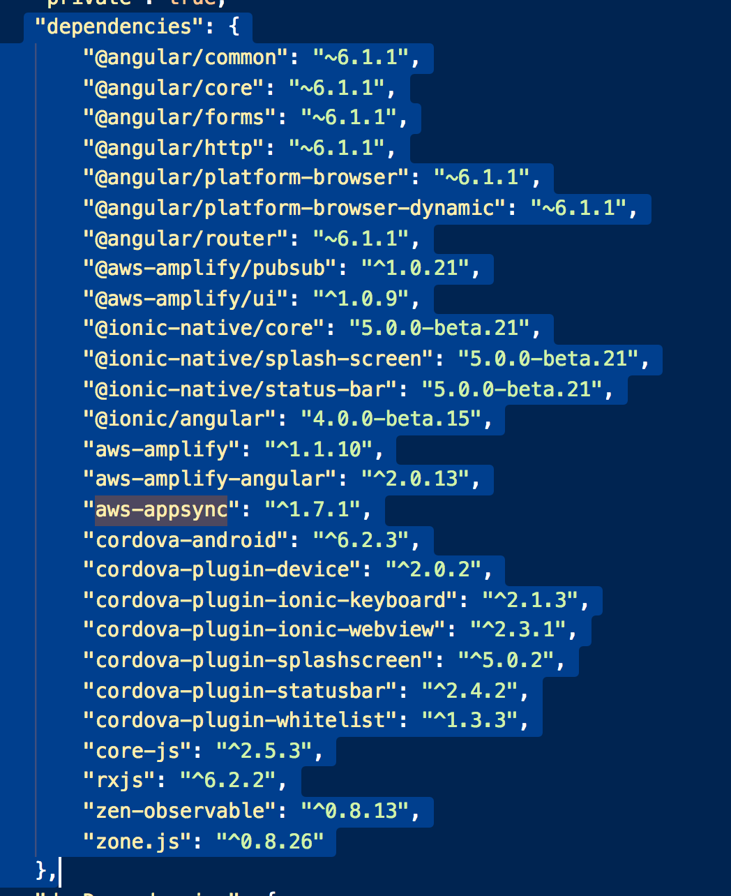 appsync subscriptions not firing - Angular 6 1 1 / ionic 4