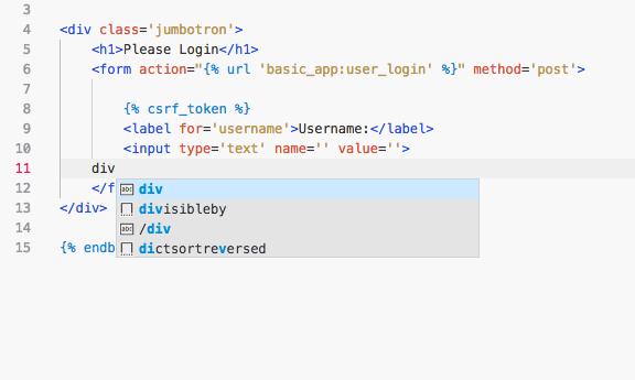 Breaks HTML IntelliSense · Issue #16 · vscode-django/vscode