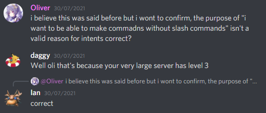 Discord Employee's Statement on Message Content Intent