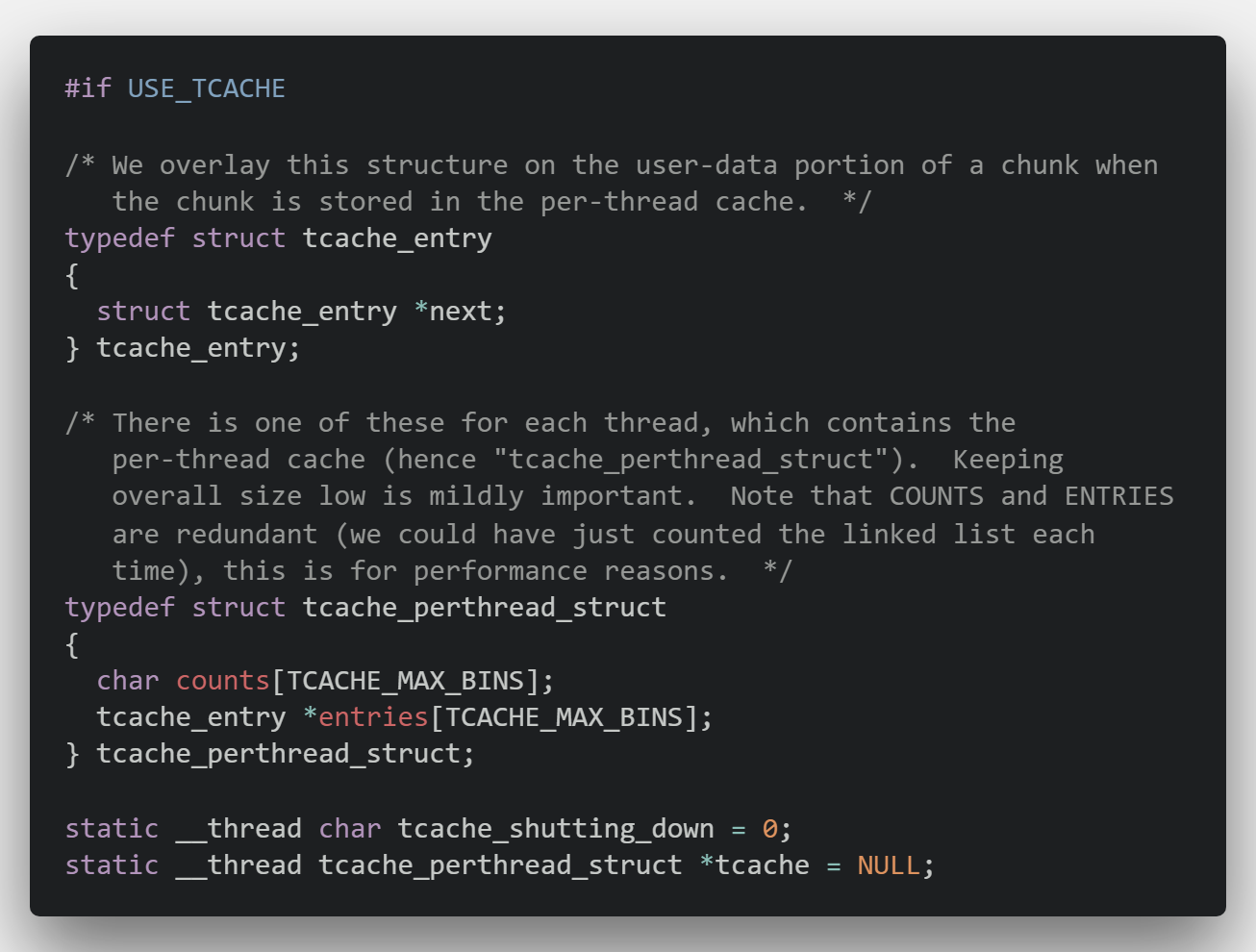 tcache_entry