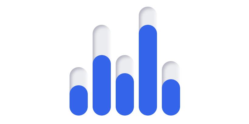 Neumorphic SwiftUI bar chart