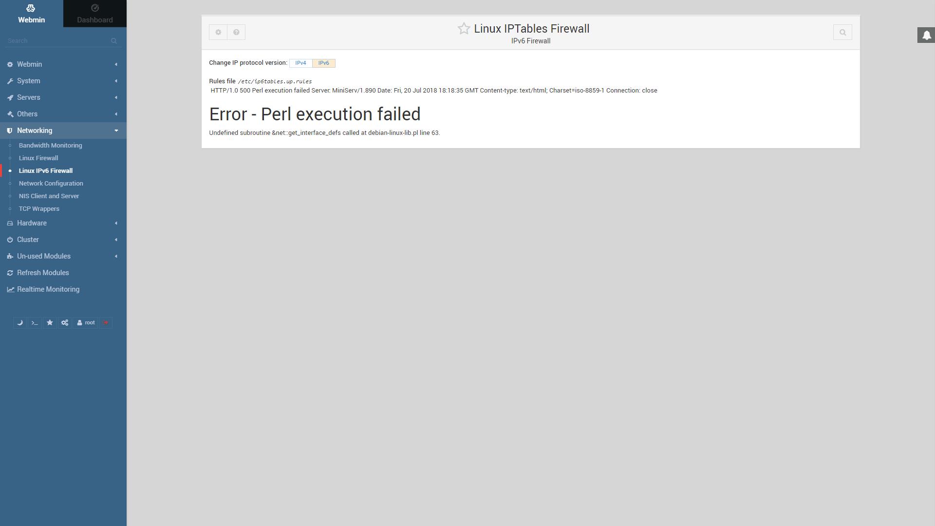 Error - Perl execution failed · Issue #941 · webmin/webmin