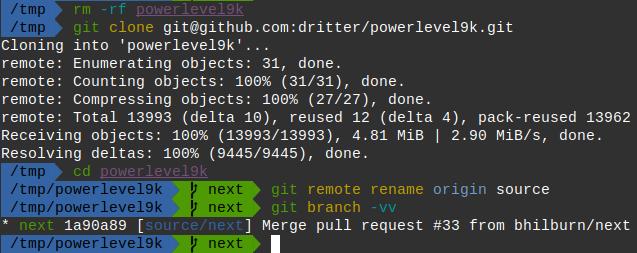 vcs segment shows incorrect remote branch when tracking
