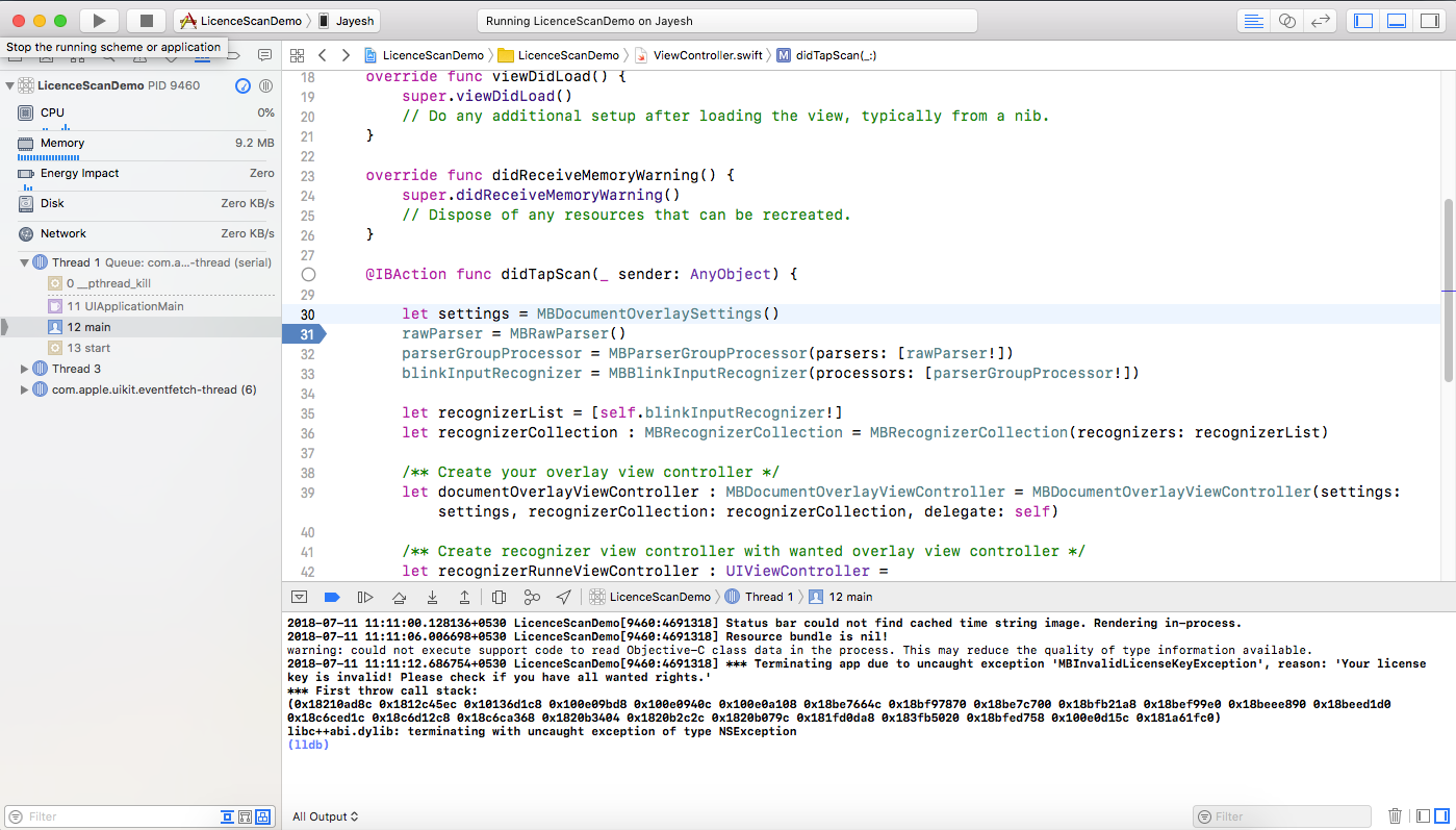 Licence Key Invalid · Issue #180 · BlinkID/blinkid-ios · GitHub