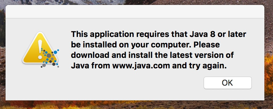 macOS: start issue with java8 (DMG) · Issue #1685 · eXist-db/exist